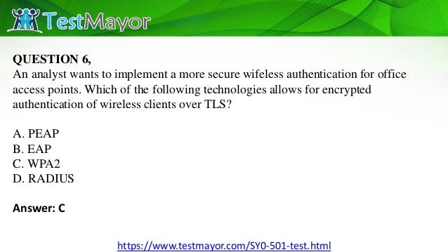 Sy0 501 Exam Dumps Released With Valid Pdf Questions