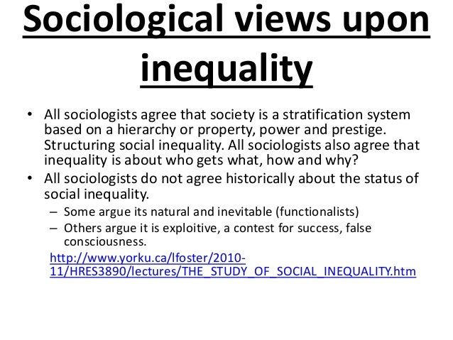 analyze a sociological issue social inequality Discover sociology explores sociology as a  organized around the four main themes of the sociological  chapter 7 social class and inequality in the.