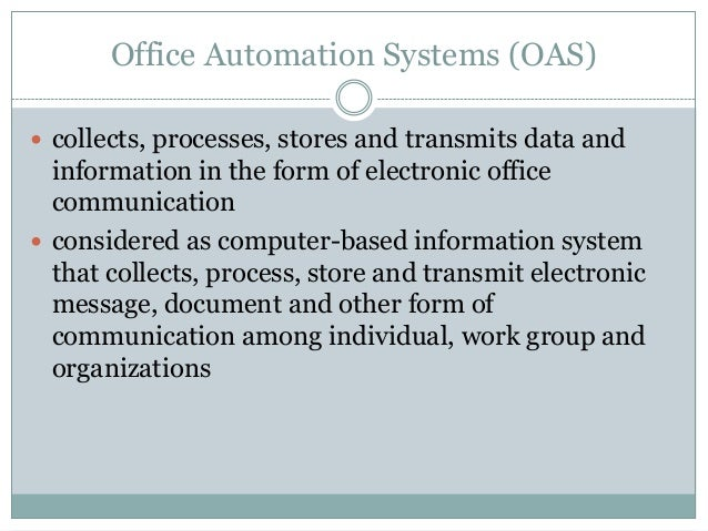 Different Types of Information Systems IS – Types of Office Communication