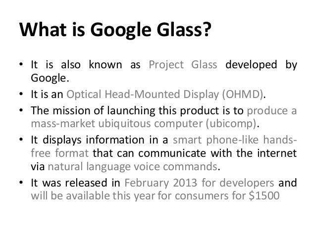 syandes ppt google glass
