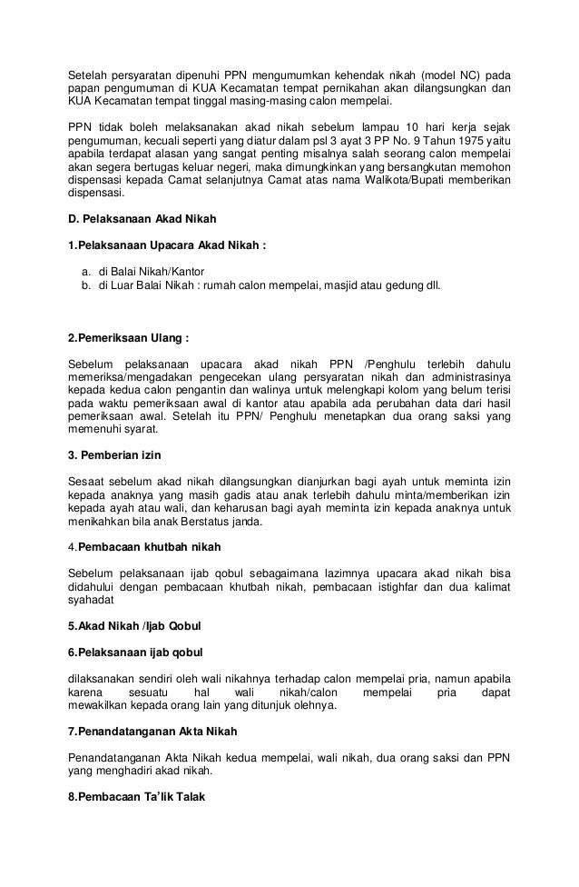 Syarat Dokumen Pernikahan