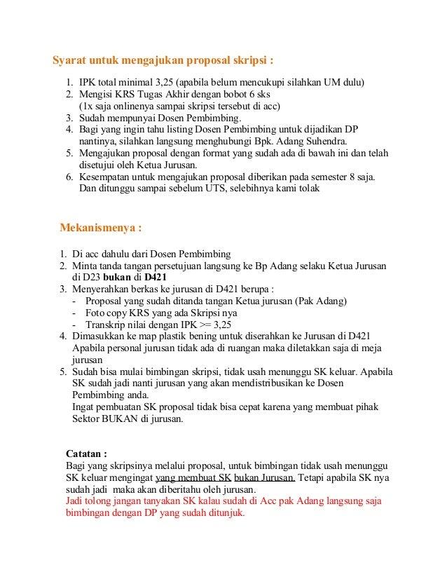 Syarat Untuk Mengajukan Proposal Skripsi