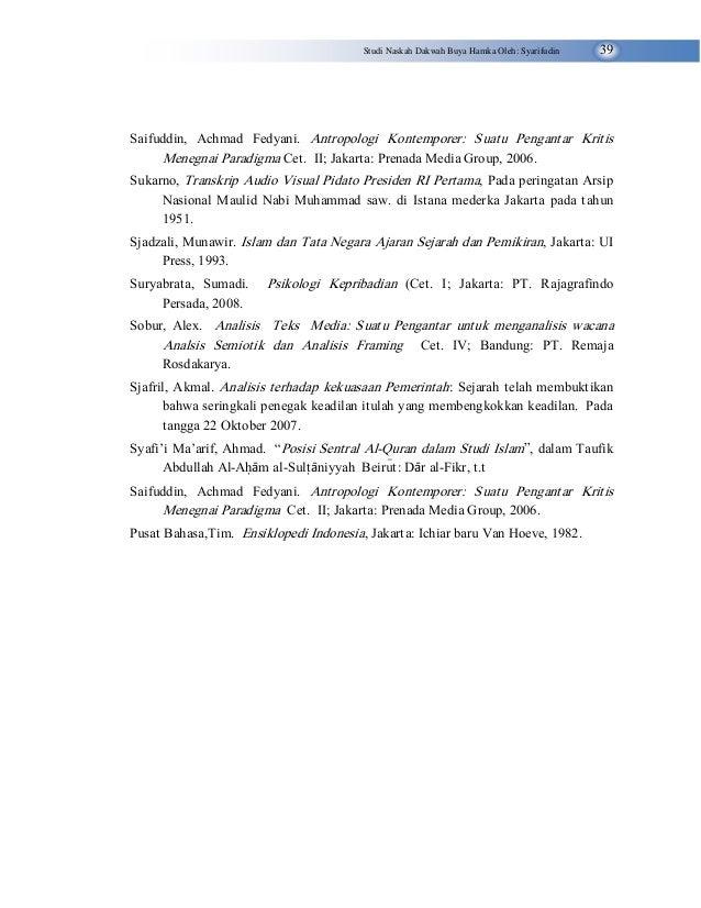 Ambon Syarifudin, studi naskah dakwah
