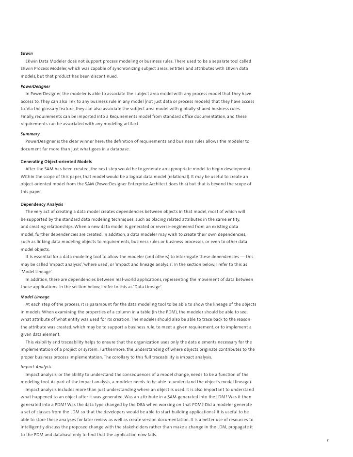 sybase powerdesigner vs erwin - Data Modeler Resume