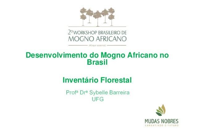 Desenvolvimento do Mogno Africano no Brasil Inventário Florestal