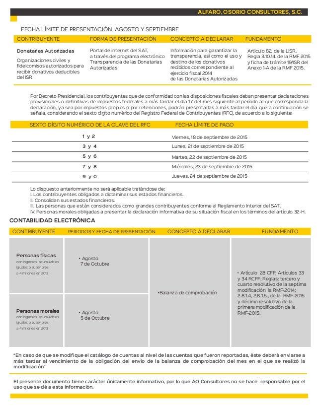Calendario de obligaciones fiscales septiembre 2015 Slide 3