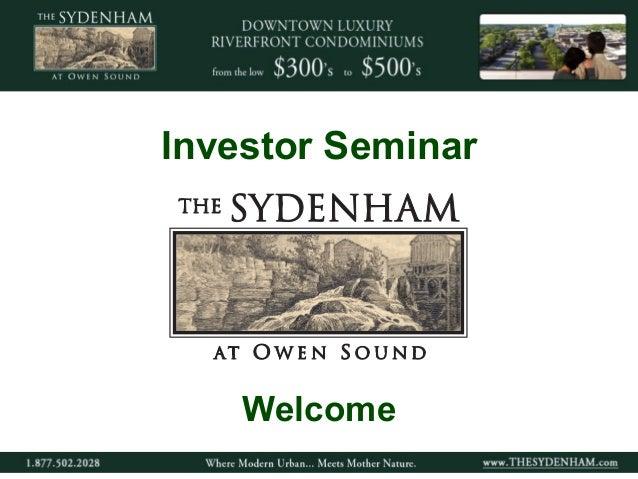 Investor Seminar  Welcome