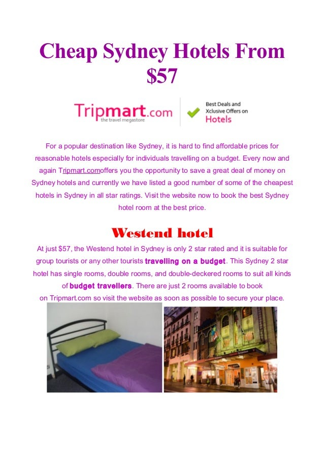 Cheap Sydney Hotels From 57