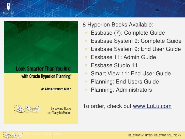 sydney hyperion financial reporting top 10 tips and tricks 09 20 11 rh slideshare net hyperion financial reporting user guide Hyperion Reporting Tool