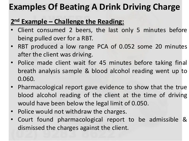 Example character reference for court drink driving