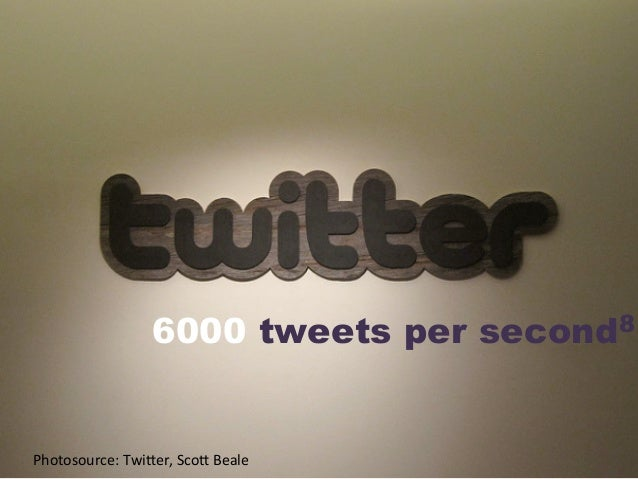 6000 tweets per second8 Photosource:  TwiDer,  ScoD  Beale