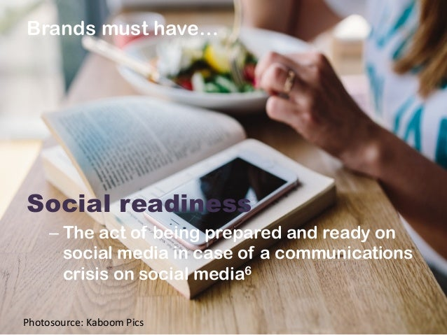 Brands must have…                Social readiness –The act of being prepared and ready on social media in case ...