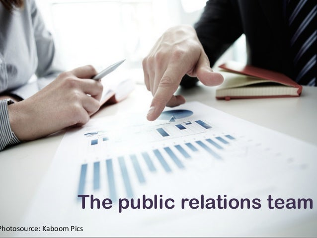 The public relations team Photosource:  Kaboom  Pics
