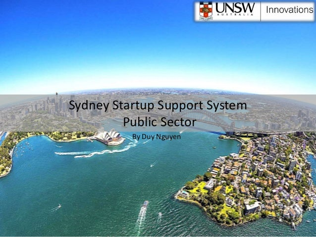 Sydney Startup Support System Public Sector By Duy Nguyen