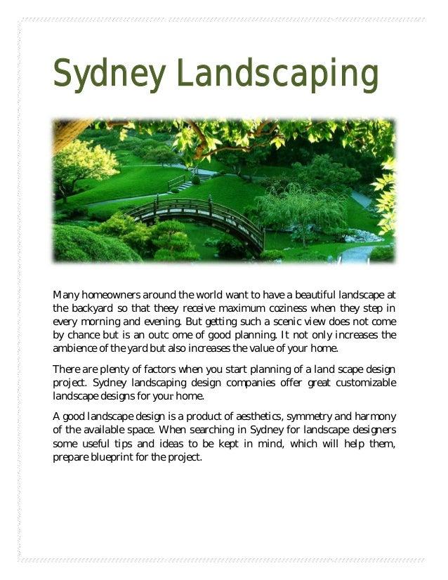 Sydney landscaping for Landscaping sydney