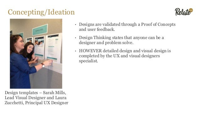 Concepting/Ideation • Designs are validated through a Proof of Concepts and user feedback. • Design Thinking states that a...