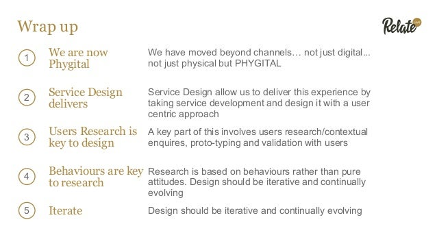 Wrap up We are now Phygital We have moved beyond channels… not just digital... not just physical but PHYGITAL 1 2 3 4 Serv...