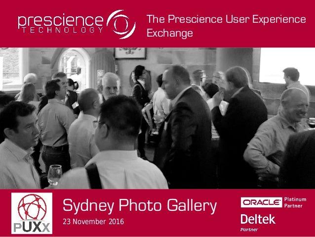The Prescience User Experience Exchange Sydney Photo Gallery 23 November 2016
