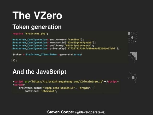 The VZero Token generation And the JavaScript Steven Cooper (@developersteve)