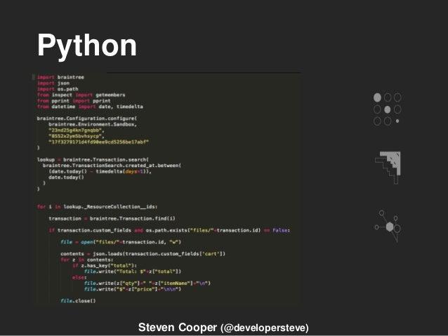Python Steven Cooper (@developersteve)