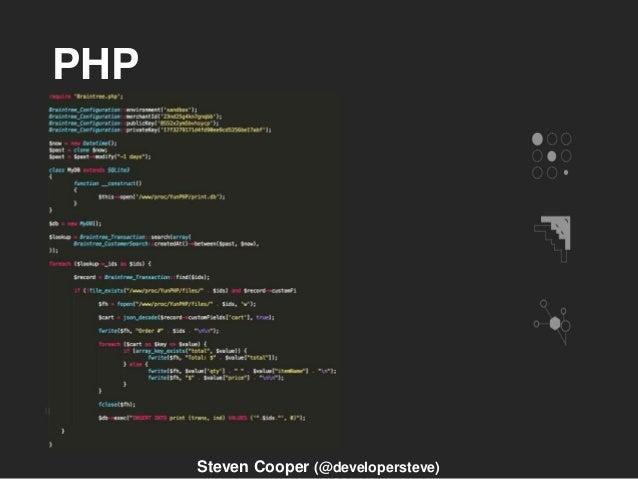 PHP Steven Cooper (@developersteve)