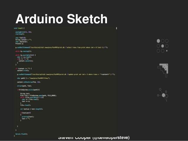 Arduino Sketch Steven Cooper (@developersteve)