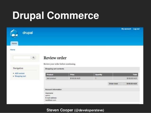 Drupal Commerce Steven Cooper (@developersteve)