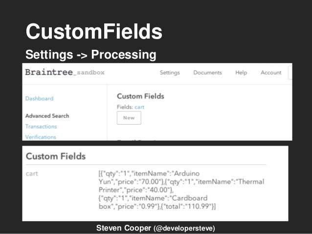 CustomFields Settings -> Processing Steven Cooper (@developersteve)