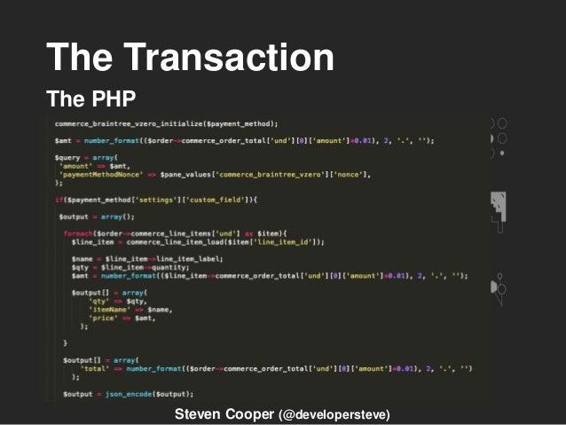 The Transaction The PHP Steven Cooper (@developersteve)