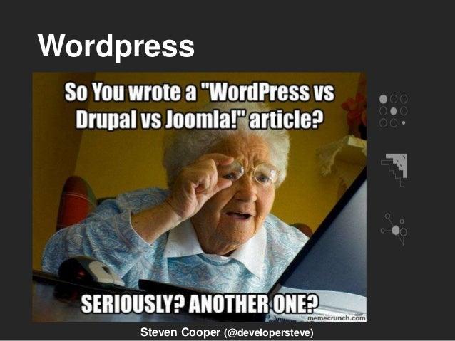 Wordpress Steven Cooper (@developersteve)