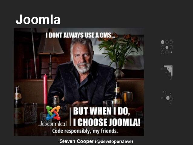 Joomla Steven Cooper (@developersteve)