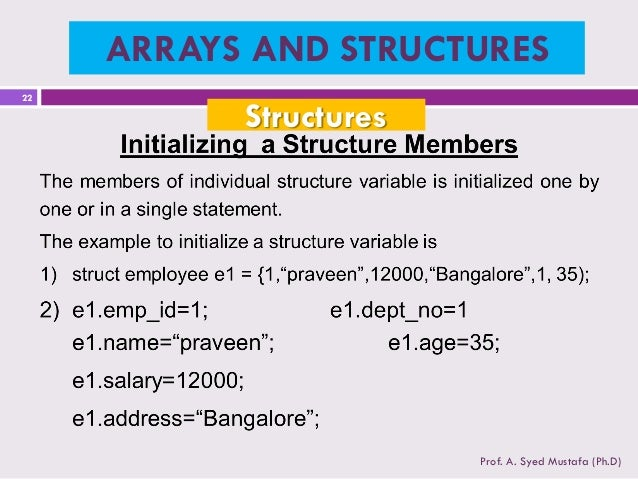 Top Five C Initialize An Array Of Structs - Circus