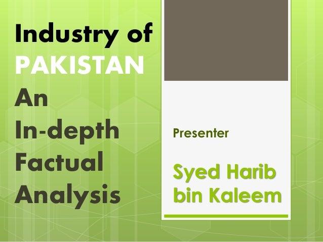 Syed Harib bin Kaleem Presenter Industry of PAKISTAN An In-depth Factual Analysis