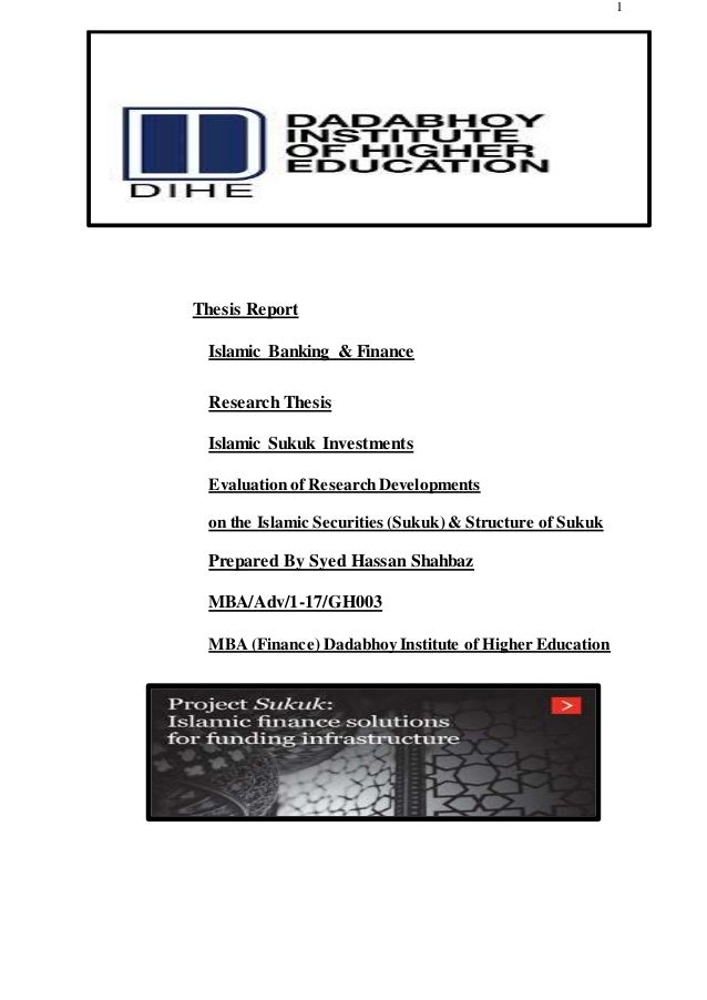 Master thesis islamic finance