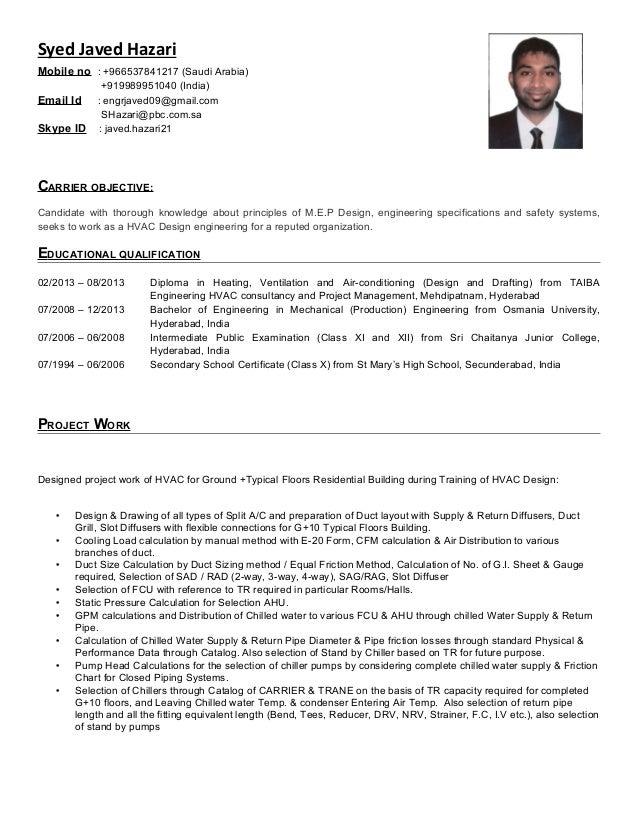 Syed Javed Hazari Resume