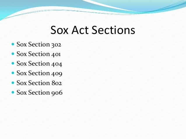 sarbanes oxley act 2002 section 302