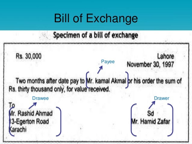 Promissory note bill of exchange bill of exchange payee drawee drawer altavistaventures Image collections