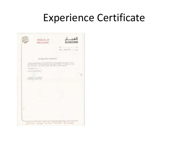safety officer experience certificate pdf