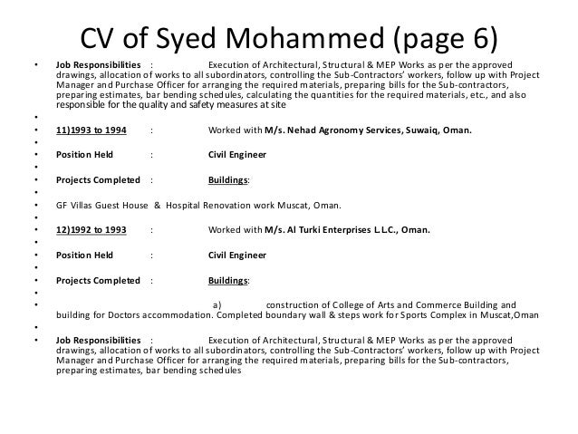 Syed mohammed project manager civil