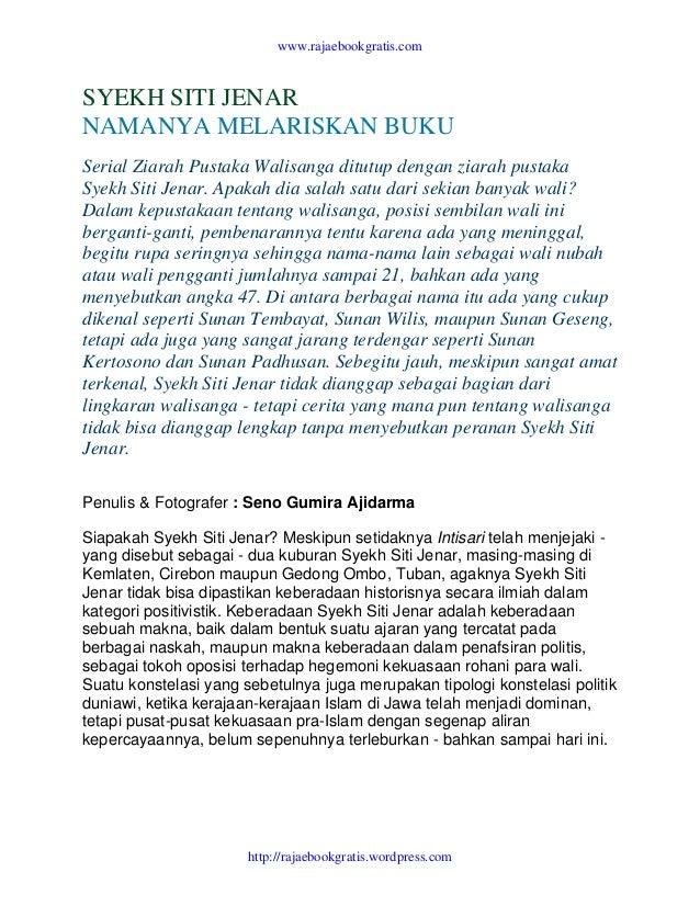 Syekh Siti Jenar Namanya Melariskan Buku
