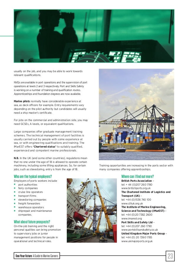 Sea Your Future - A Guide to Marine Careers