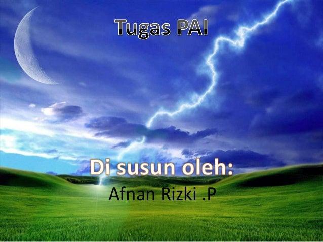Afnan Rizki .P