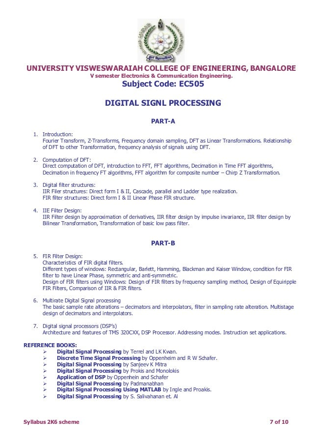 BU (UVCE)5th Sem Electronics syllabus copy from Lohith kumar R