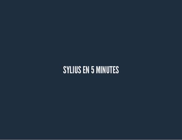 SYLIUS EN 5 MINUTES