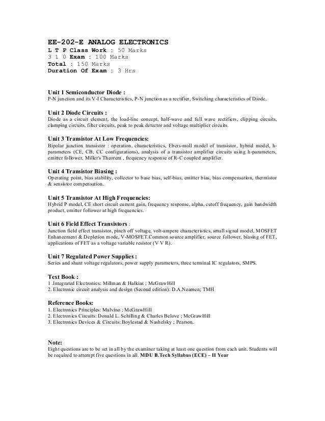 4th sem syllabus ECE (MDU Rohtak)