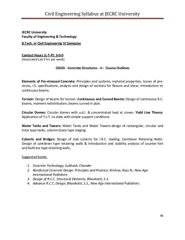 project for civil engineering b tech Bachelor of technology (civil engineering) the btech tce4103 design project tce3001 water quality engineering tce4104 btech dissertation (8mcs) 3.