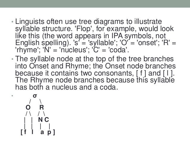 Tree Diagram Syllable Structure - Auto Wiring Diagram Today •