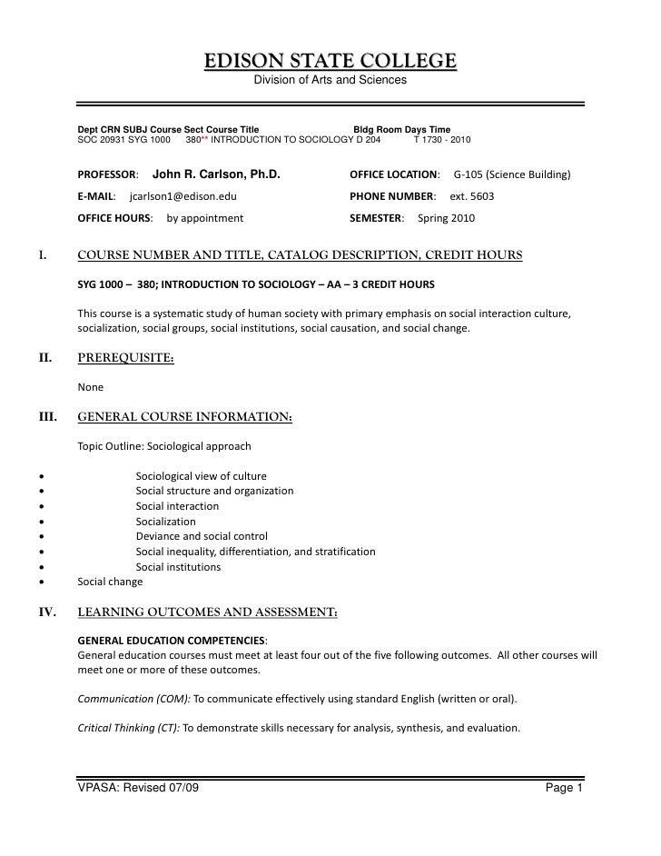EDISON STATE COLLEGE                                               Division of Arts and Sciences           Dept CRN SUBJ C...