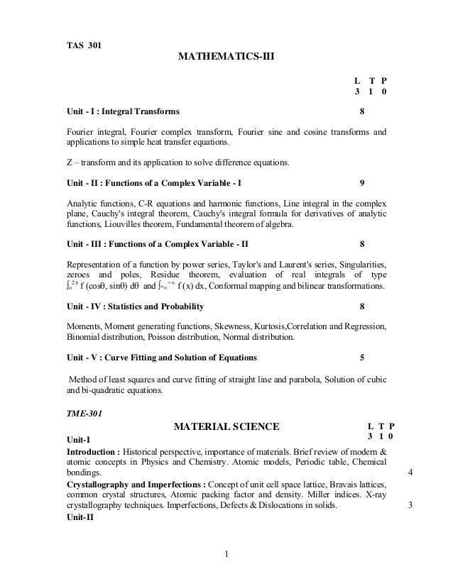 TAS 301                                MATHEMATICS-III                                                                    ...