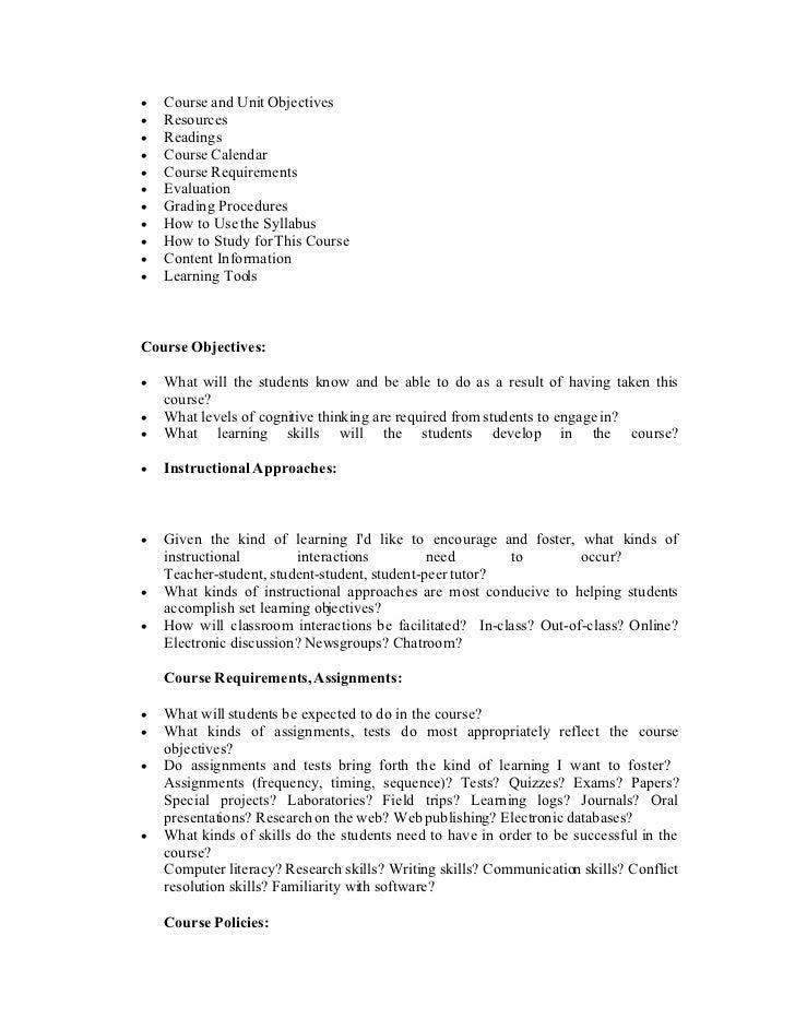 teacher syllabus template